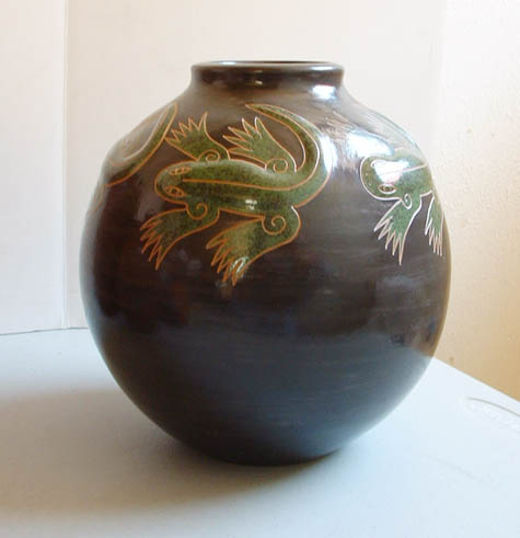 Mexican Pottery Frog Vase