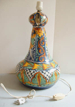 Mexican Pottery - Talavera Lamp